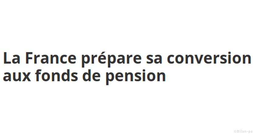 mise en place de fonds de pension
