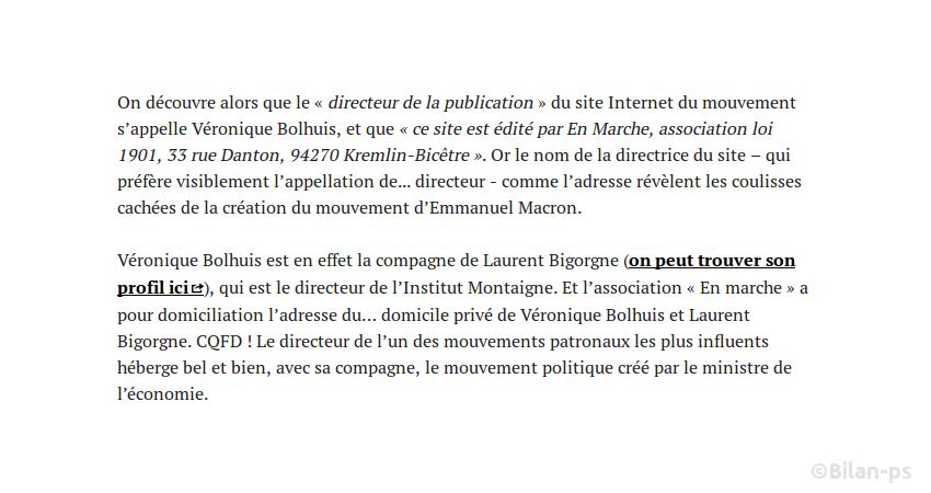Le mouvement de Macron hébergé et domicilié à l'Institut Montaigne