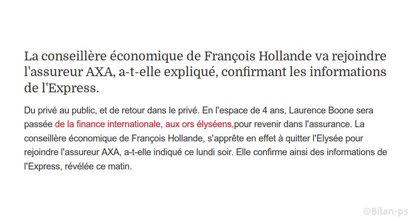 Laurence Boone quitte l'Élysée pour Axa Investment Managers