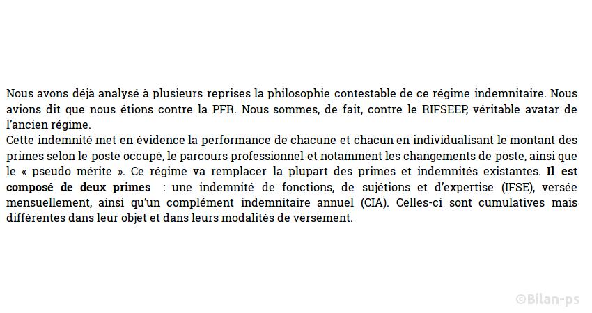 RIFSEEP : Mise en concurrence des fonctionnaires