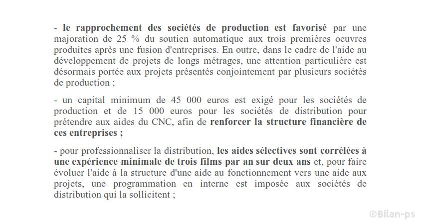 Cinéma : Entraves dans l'accès aux subventions pour les petites sociétés