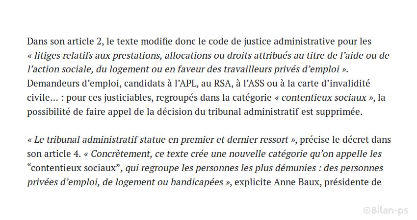 Un décret de 2013 éloigne les précaires de la justice ordinaire