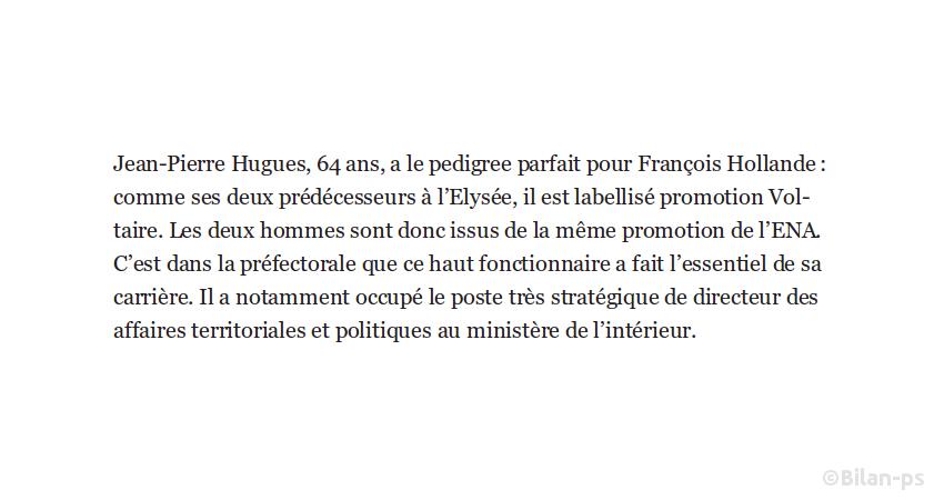 Copinage : J.-P. Hugues, de la promo Voltaire, nommé à l'Élysée