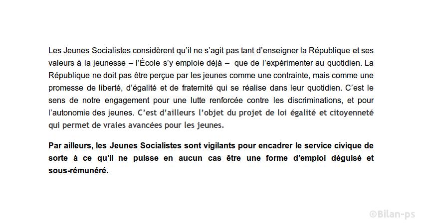 jeunes-socialistes.fr : Service civique obligatoire