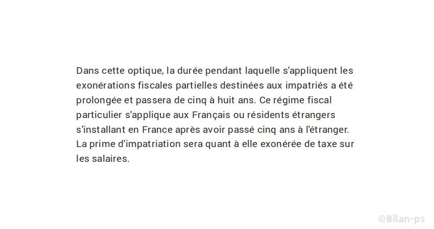 Les exonérations fiscales passent de 5 à 8 ans