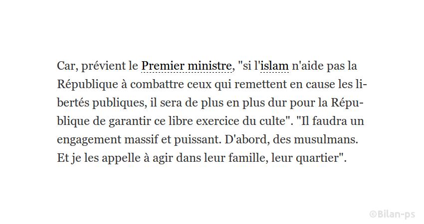 Valls prêt à remettre en cause la laïcité