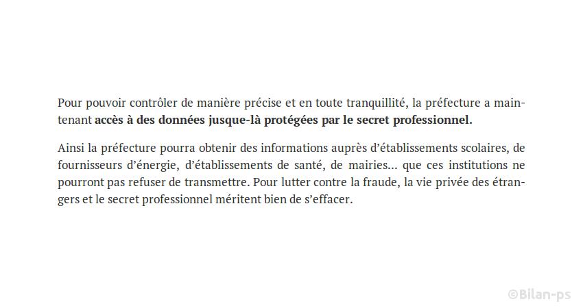 Accès des préfectures à des données protégées par le secret professionnel