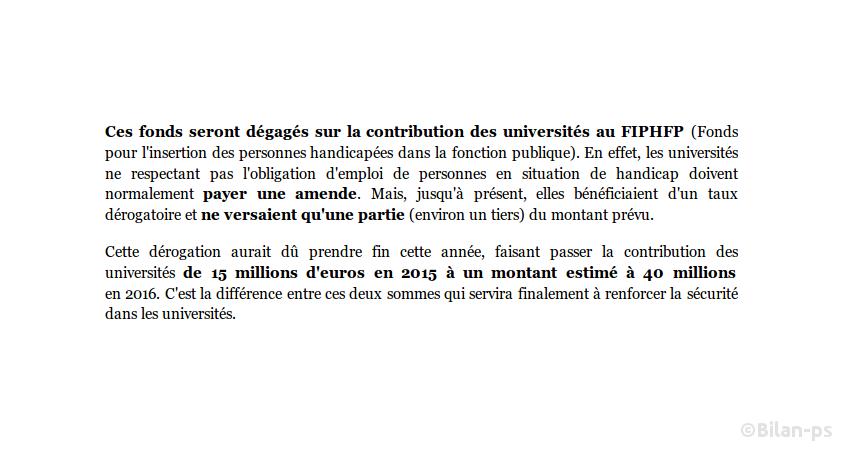 30M€ prélevés sur le FIPHFP pour payer des vigiles dans les facs