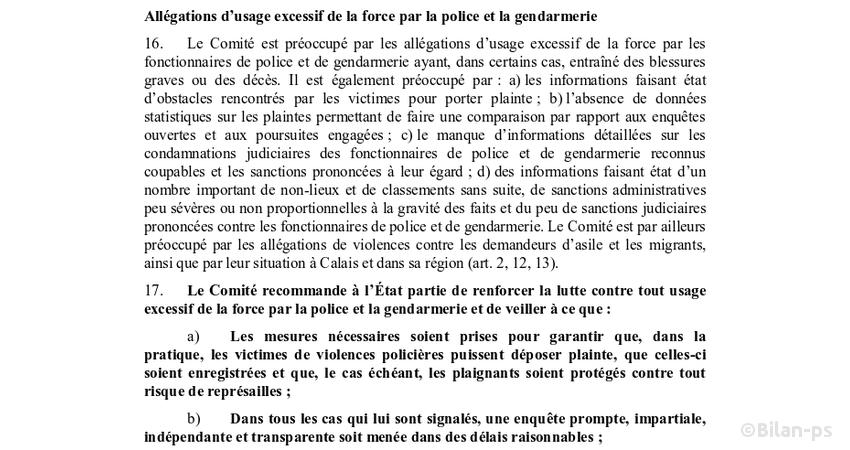 L'ONU s'inquiète des violences policières en France