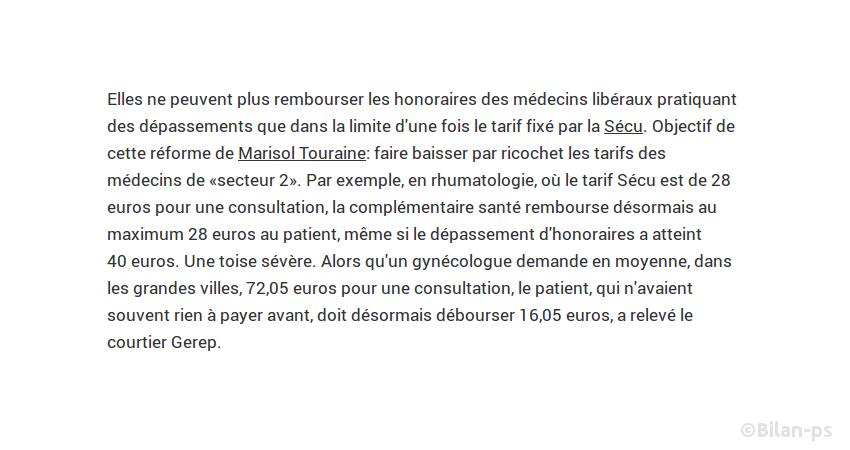 la réforme Touraine augmente la facture pour les patients
