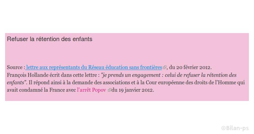 Promesse du candidat Hollande