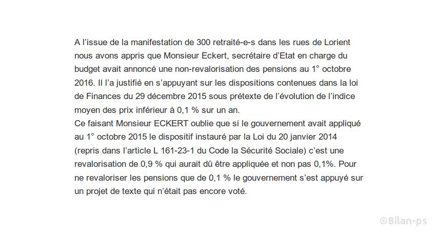 Nouveau gel des pensions de retraite au 1er octobre
