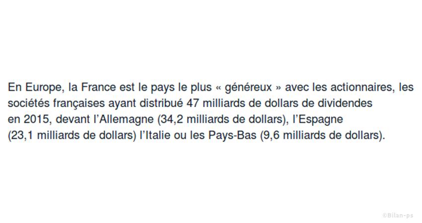 47Mds € de dividendes en 2015