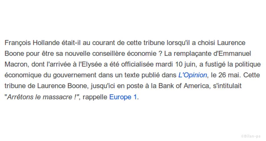 Laurence Boone à l'Élysée