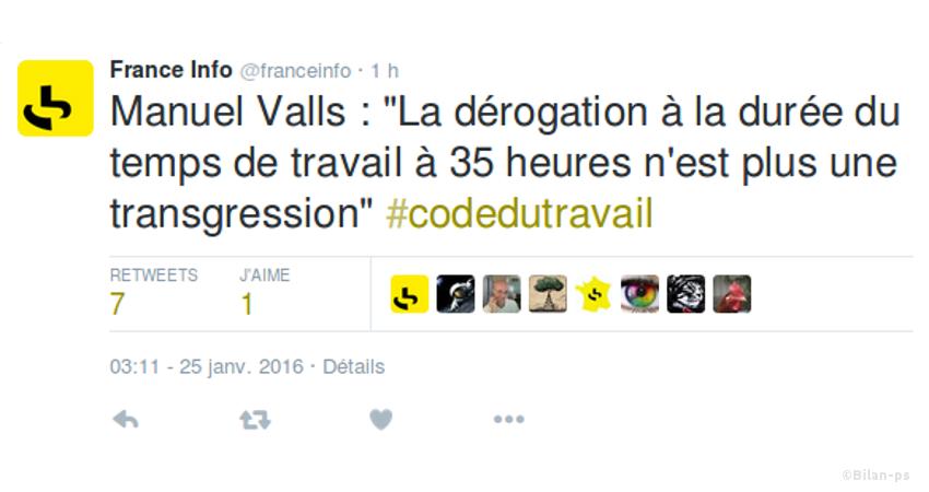 Twitter : La dérogation aux 35 heures n'est plus une transgression