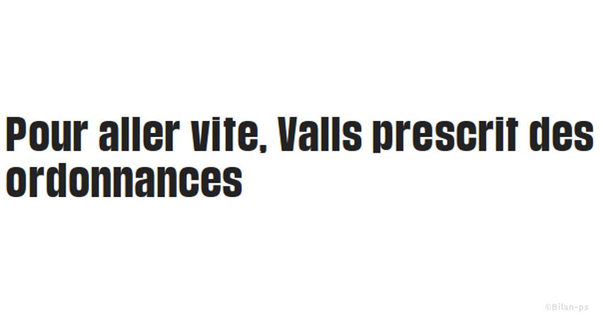 Valls veut court-circuiter le Parlement