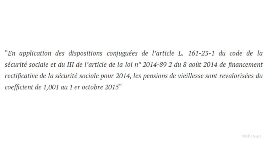 Retraites : Revalorisation de 0,1% en 2015