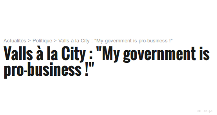 My government is pro-business