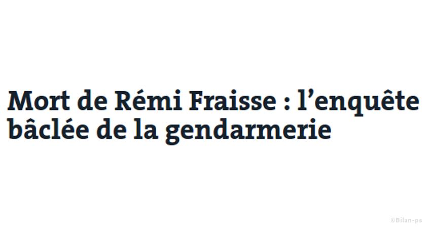 Mort de Rémi Fraisse : l'enquête bâclée de la gendarmerie