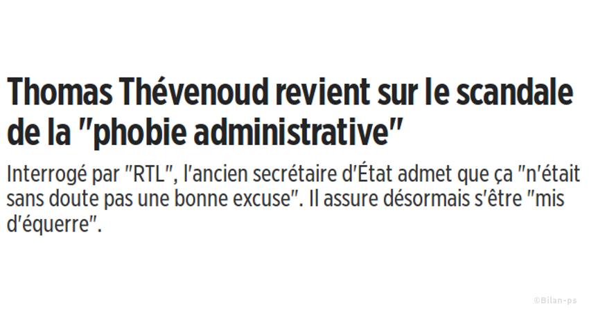 Thévenoud revient sur le scandale de la phobie administrative