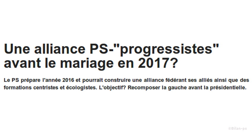 Une alliance PS-