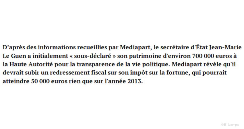 Jean-Marie Le Guen a minoré son patrimoine de 700 000 €