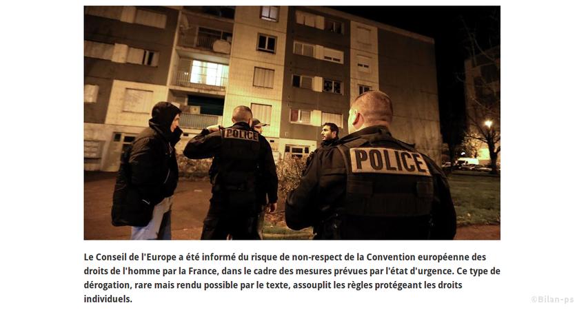 La France annonce son intention de déroger à la convention européenne des droits de l'Homme