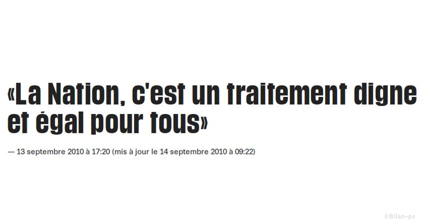 Hollande sur la déchéance de nationalité en 2010