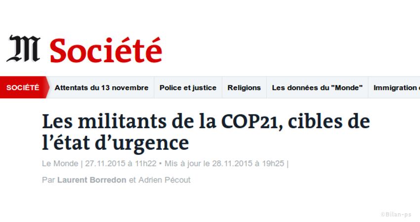 24 militants écologistes ont été assignés à résidence