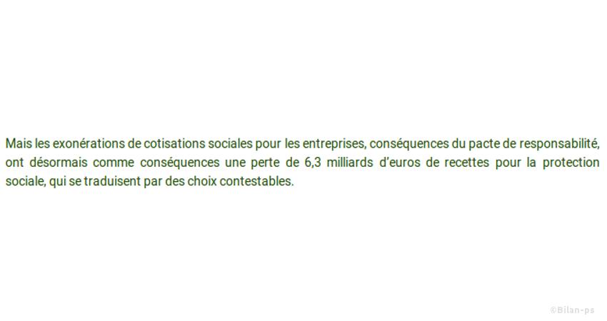 Baisse de 6,3Milliards € pour la protection sociale