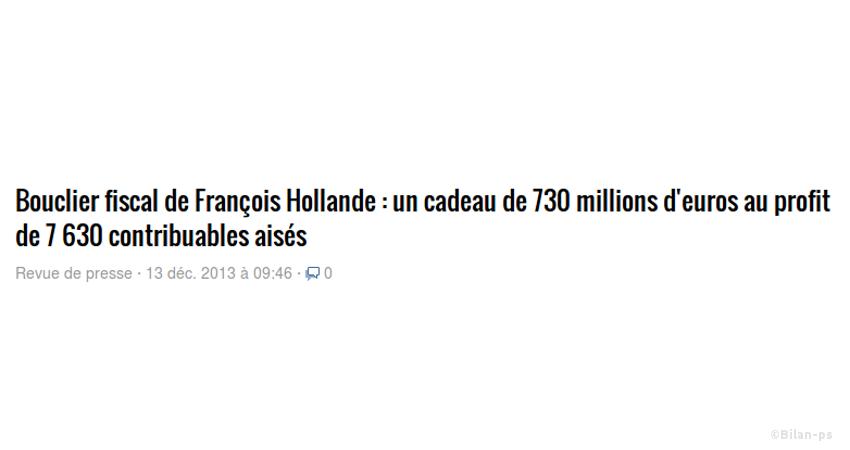 bouclier fiscal de Hollande