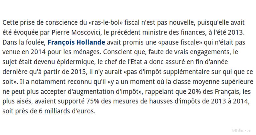 Valls regrette la hausse d'impôts des plus aisés