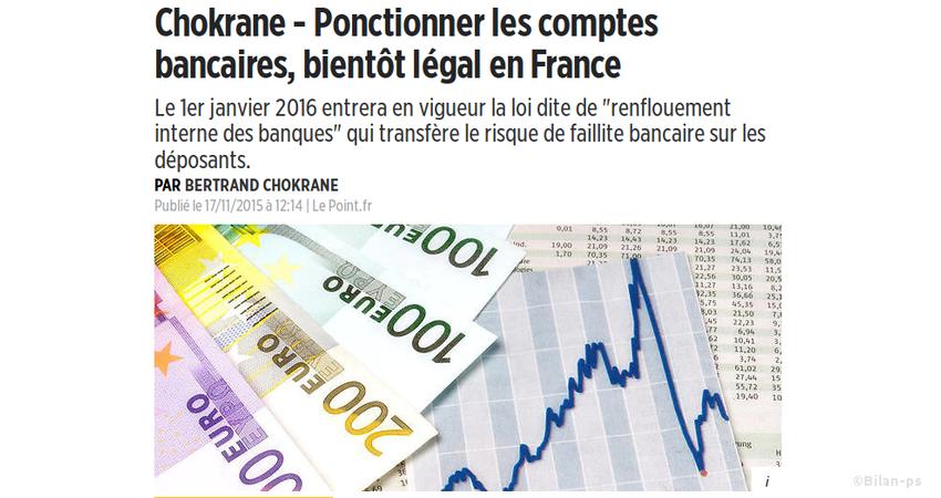 Ponctionner les comptes bancaires, bientôt légal en France