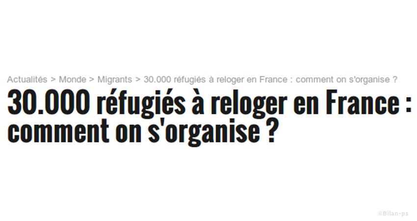 30 000 réfugiés en deux ans
