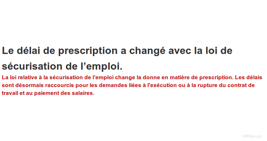 Délai de prescription applicable aux ruptures de contrat