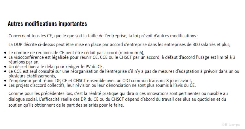 Fragilisation des CE & CHSCT