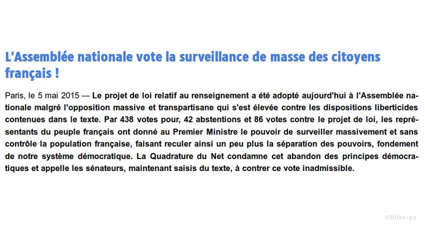 Surveillance massive des citoyens
