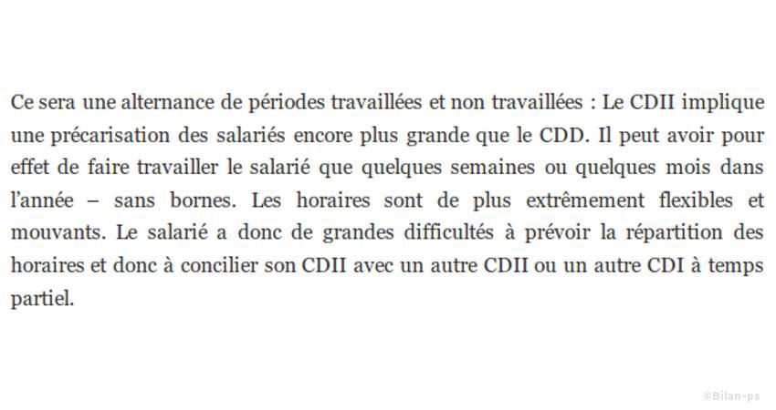 Création du CDI intermittent