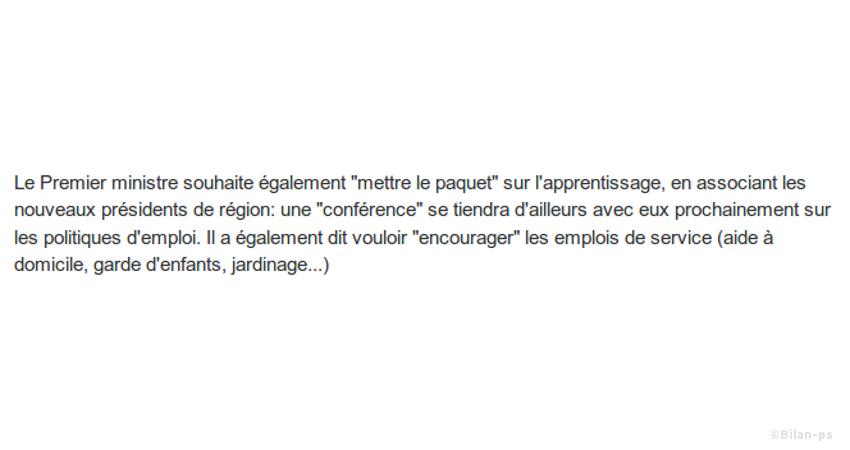 Formation : Valls demande des contreparties aux chômeurs