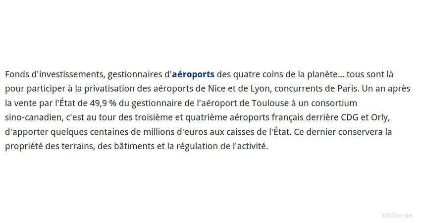 Privatisation des aéroports