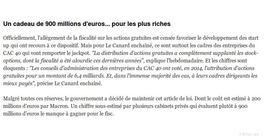 Le cadeau de Macron aux riches ennemis de Hollande