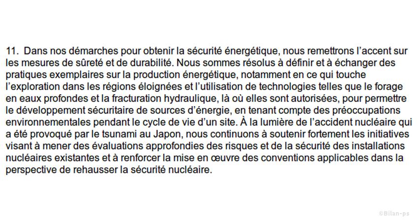 le G8 promeut la fracturation hydraulique
