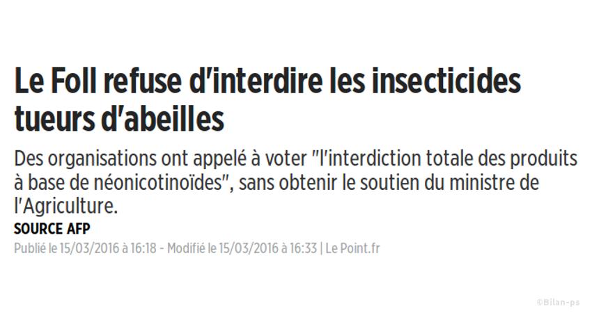 interdire les insecticides aux néonicotinoïdes