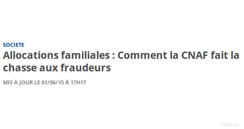 la CNAF fait la chasse aux fraudeurs